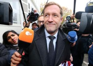 Minister-President of Wallonia Magnette arrives at a meeting on CETA at the Lambermont Residence in Brussels
